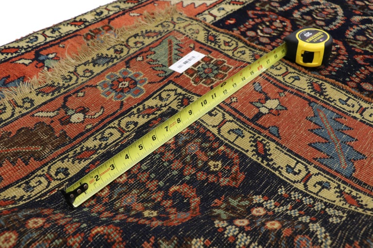 20th Century Antique Persian Bijar Runner with Boteh Design and Modern Victorian Style For Sale