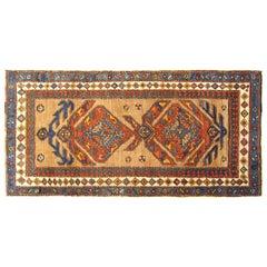 Antique Persian Camel Hair Serab Oriental Rug, in Small Runner Size, circa 1900