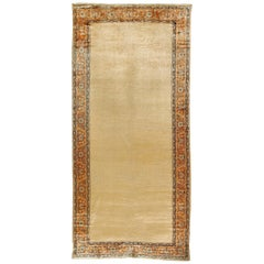 Antique Persian Caramel Mahal Runner Gallery Carpet, circa 1910, 6'10 x 14'8