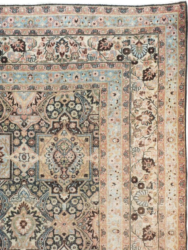 Khorassan Antique Persian Dorokhsh Carpet For Sale