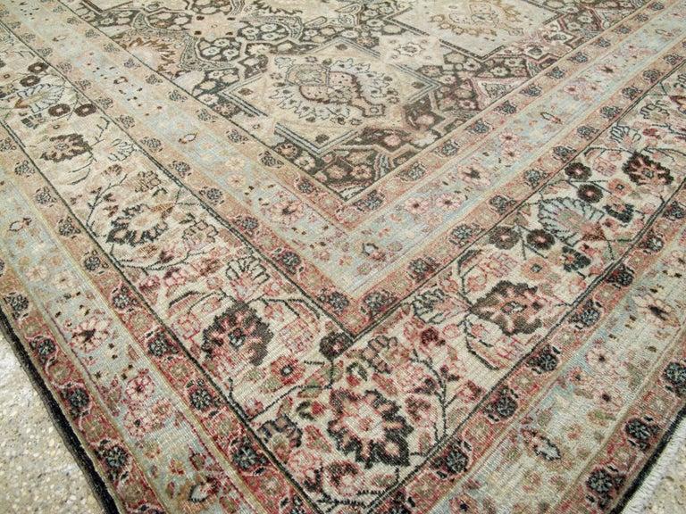 20th Century Antique Persian Dorokhsh Carpet For Sale