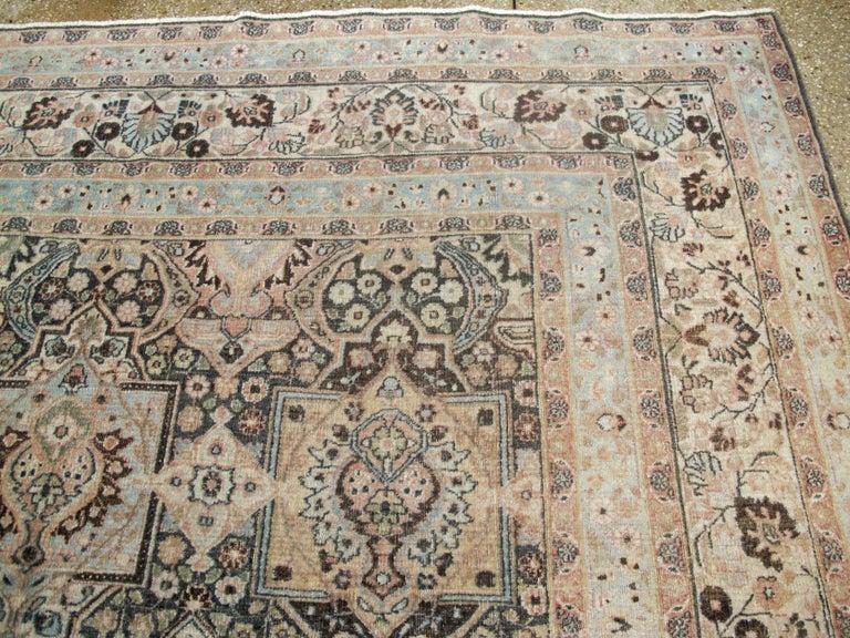 Antique Persian Dorokhsh Carpet For Sale 1