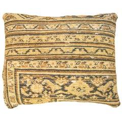 Antique Persian Dorokhsh Decorative Oriental Carpet Pillow
