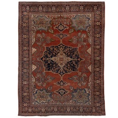 Antique Persian Farahan Sarouk Carpet