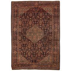 Antique Persian Farahan Sarouk Rug Circa 1900.