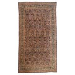 Antique Persian Floral Lavar Carpet, circa 1880s-1900s