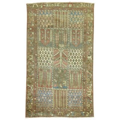 Antique Persian Garden Design Bakhtiari Rug
