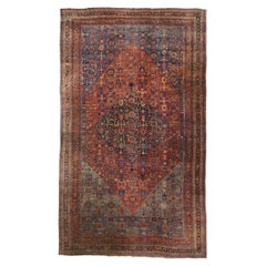 Antique Persian Halwai 'Halvai' Bijar Palace Rug with American Colonial Style
