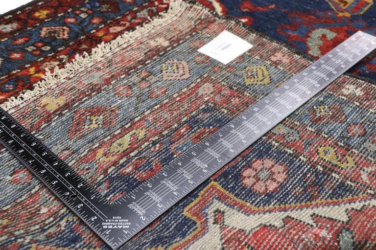 20th Century Antique Persian Hamadan Extra-Long Hallway Runner with English Manor Tudor Style For Sale