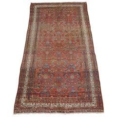 Antique Persian Hamadan, Herati Motif, Rust Field, Wool, Hallway Size, 1915