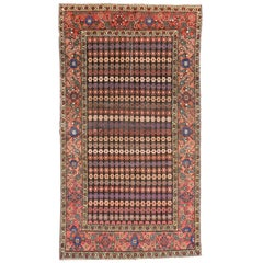 Antique Persian Hamadan Rug with Stylized Floral Motif and Traditional Style