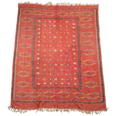 Antique Persian Hand Knotted Kilim Nomadic Tribal Rug, circa 1900
