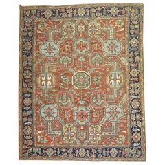 Antique Persian Heriz Carpet, Early 20th Century