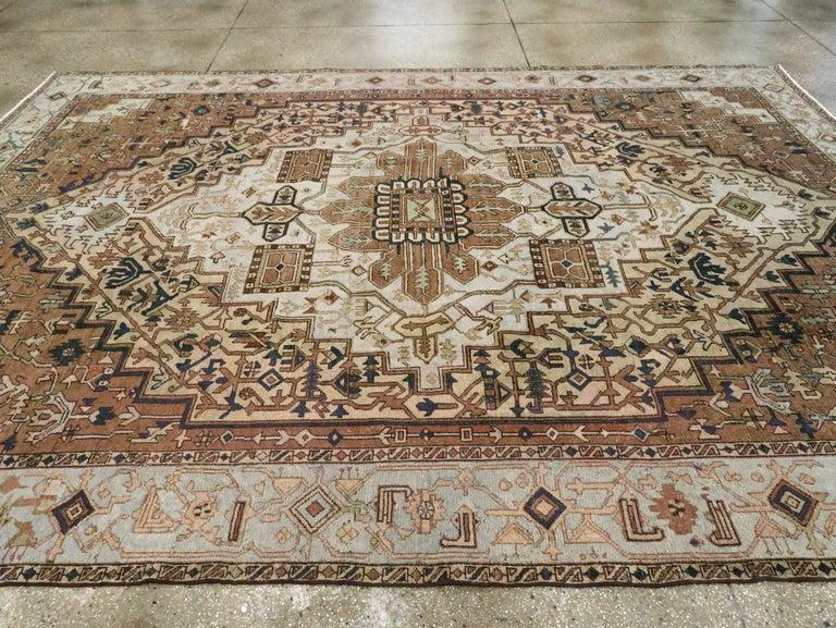 Antique Persian Heriz Carpet For Sale 3