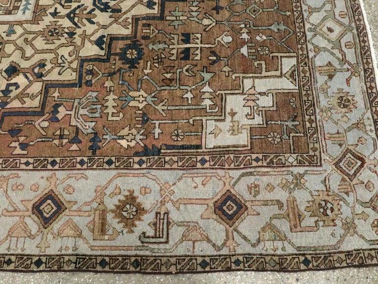 Antique Persian Heriz Carpet For Sale 4