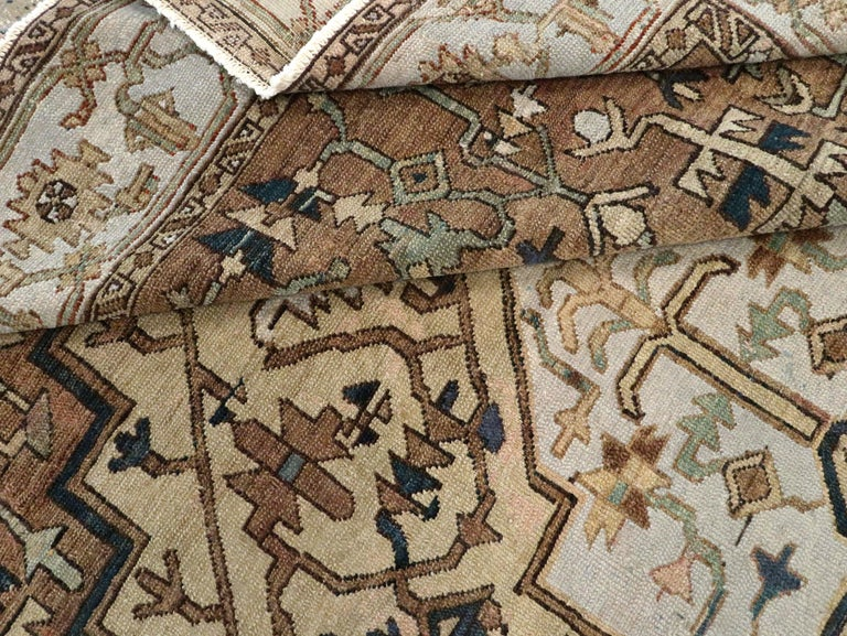 Antique Persian Heriz Carpet For Sale 5