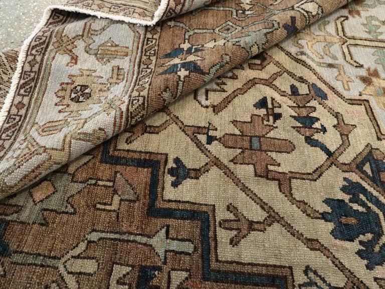 Antique Persian Heriz Carpet For Sale 6