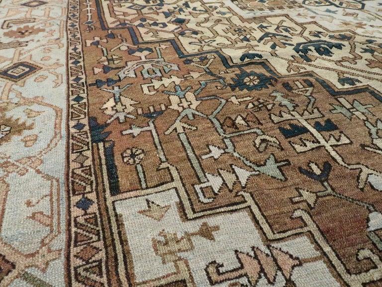 20th Century Antique Persian Heriz Carpet For Sale