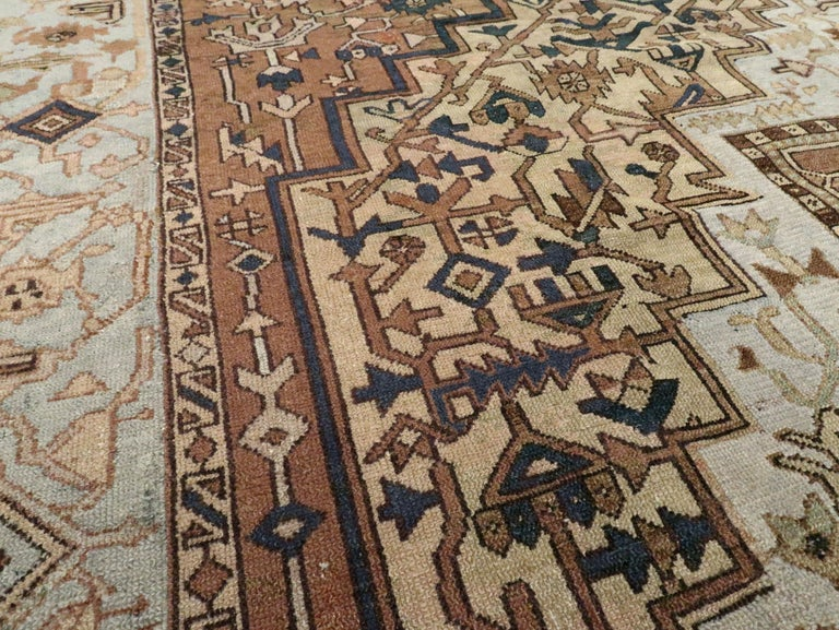 Antique Persian Heriz Carpet For Sale 1