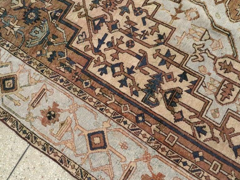 Antique Persian Heriz Carpet For Sale 2