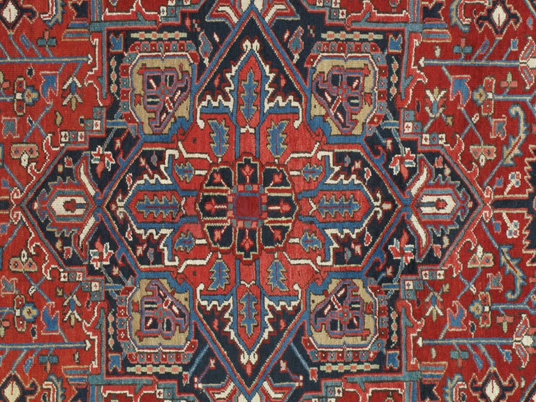 Heriz carpets are the staple of the furnishing market and remain the most popular of all NW Persian Carpets. They were produced for the rapidly growing US market in the late 19th-early 20th centuries. In home design, Heriz carpets are beloved for