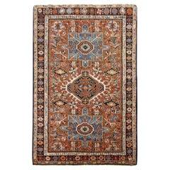 Antique Persian Heriz Karaja Oriental Rug