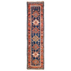 Antique Persian Heriz Oriental Long Rug Runner, circa 1900