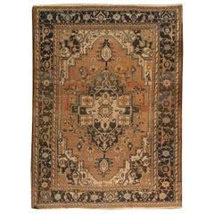 Antique Persian Heriz Rug, circa 1890, 10'11 x 14'6