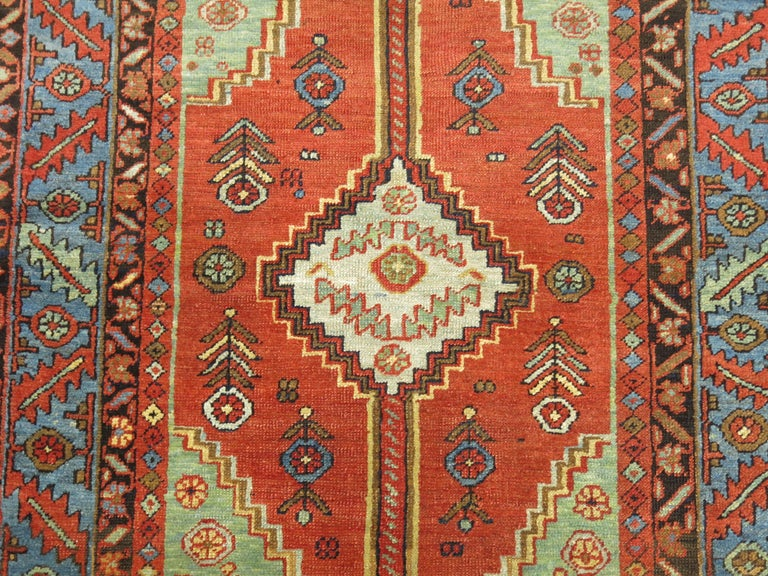 Hand-Woven Antique Persian Heriz Rug For Sale