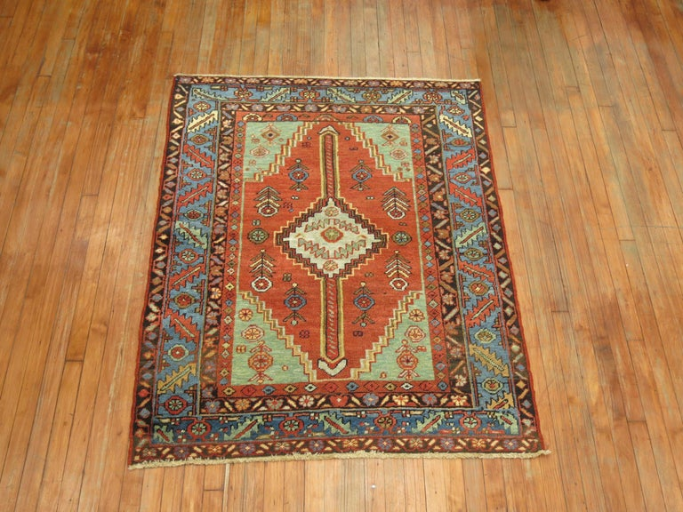 Mid-20th Century Antique Persian Heriz Rug For Sale