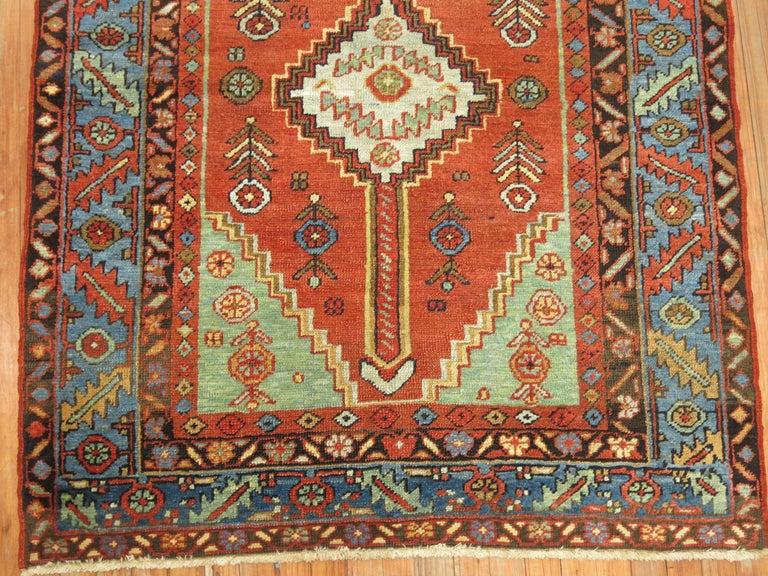 Wool Antique Persian Heriz Rug For Sale