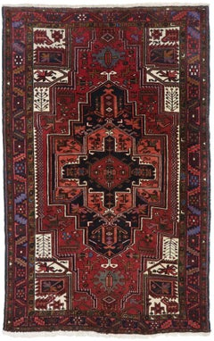 Antique Persian Heriz Rug with Medieval Jacobean Style