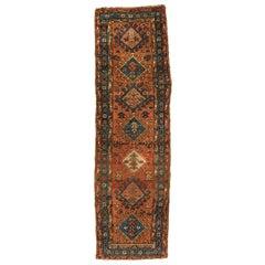 Antique Persian Heriz Runner, circa 1920-1930