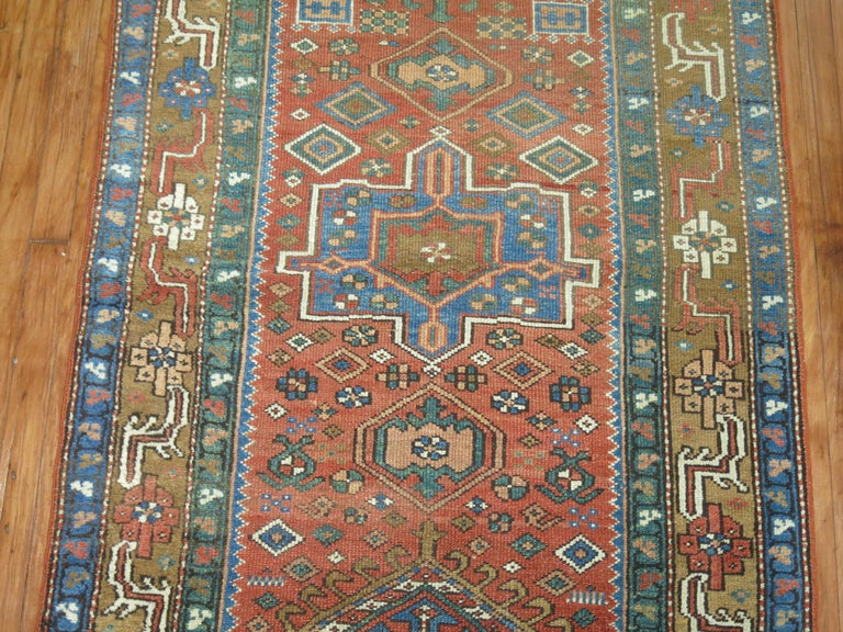 Tudor Antique Persian Heriz Runner For Sale