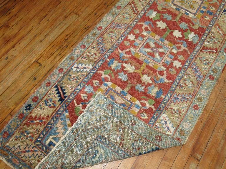 Tudor Antique Persian Heriz Runner For Sale