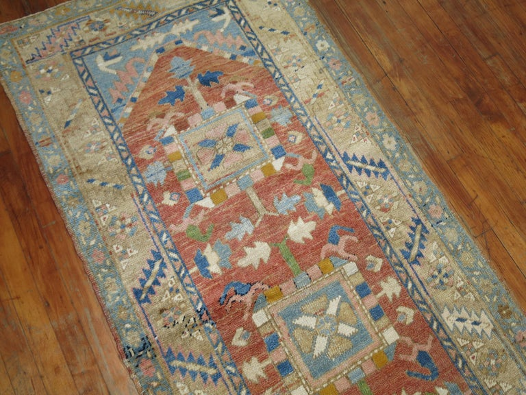 Early 20th Century Antique Persian Heriz Runner For Sale