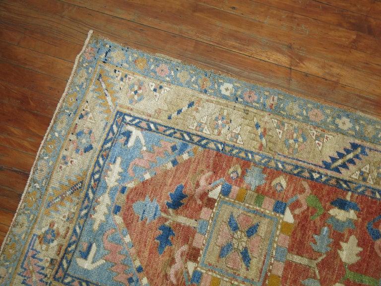 Wool Antique Persian Heriz Runner For Sale