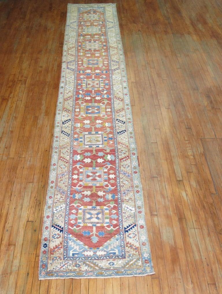 Antique Persian Heriz Runner For Sale 1