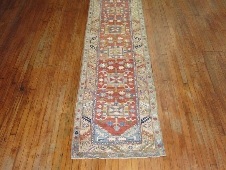 Antique Persian Heriz Runner For Sale 2