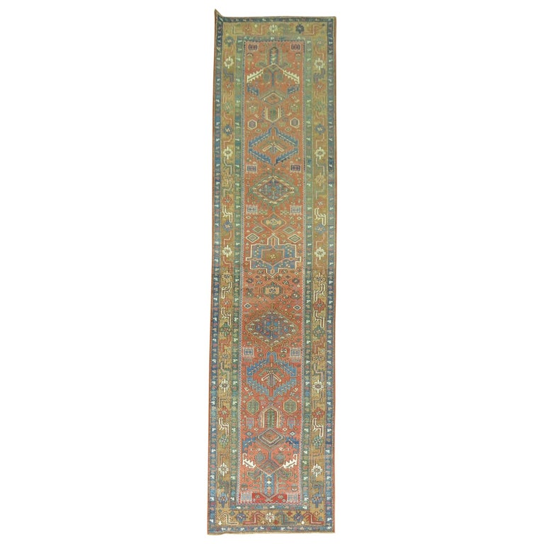 Antique Persian Heriz Runner For Sale