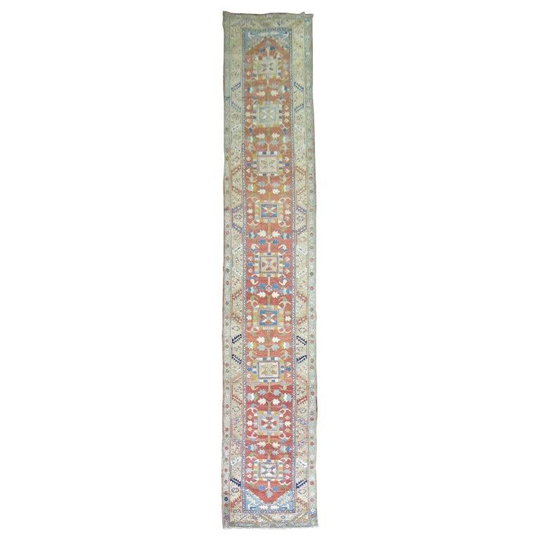 Antique Persian Heriz Runner For Sale