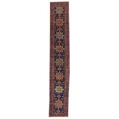 Antique Persian Heriz Runner Rug
