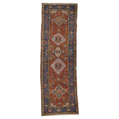 Antique Persian Heriz Runner, Traditional Hallway Runner
