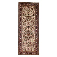 Antique Persian Heriz Runner with Tudor Manor House Style