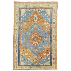 Antique Persian Heriz Scatter Rug