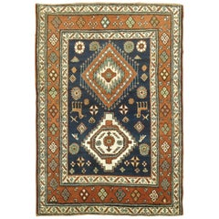 Antique Persian Heriz Scatter Tribal Rug