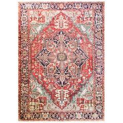 Antique Persian Heriz/Serapi Carpet, Charming