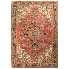 Antique Persian Heriz Serapi Rug, circa 1890