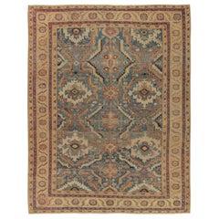 Antique Persian Heriz Serapi Rug, circa 1890