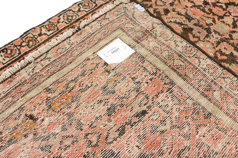 Antique Persian Hussainabad Hamadan Runner, Hallway Runner In Good Condition For Sale In Dallas, TX